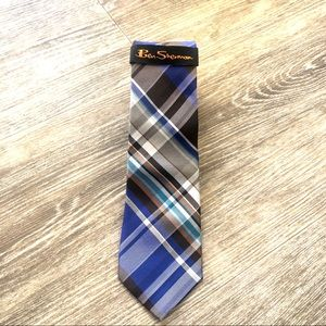 Men's Ben Sherman blue plaid tie